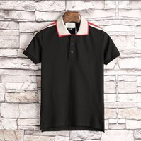 Wholesale Design Polo T Shirts - Summer 2018 polo shirt fashion Short Sleeved polo t shirts men tee design Lapel solid poloshirt clothes polos tops 3XL