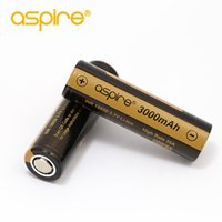 Wholesale li ion battery cell 3.7v - 100% Authentic Aspire 18650 Battery INR18650 3000mAh 35A ICR18650 2600mAh 20A Vape Cell 3.7V Li-ion Rechargeable Battery for E Cigarettes