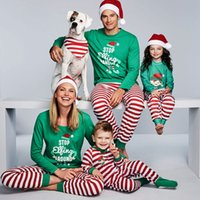 8d59cedbaf Wholesale matching family pajamas for sale - Xmas Kids Adult Family  Matching Christmas pajamas Letters STOP