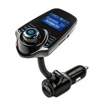 mini tarjetas sd 4 gb al por mayor-Kit de coche de alta calidad Reproductor de MP3 Bluetooth Manos libres Transmisor FM inalámbrico Bluetooth Reproductor de MP3 USB Modulador LCD