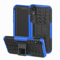Wholesale white hard stand case cover for sale - New Hybrid Kickstand Rugged Rubber Armor Hard PC TPU in Cover Case Stand For iPhone X XS XS Max XR