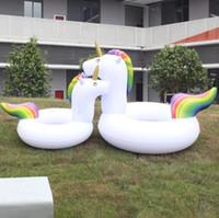 crianças, natação, anel, bote venda por atacado-Unicórnio gigante Flutua Barco Unicórnio Inflável Piscina Flutuante Brinquedos Para Adulto Crianças Unicórnio Natação Anéis Para As Mulheres Nadar Accessary
