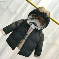 ingrosso ragazze calde giù giacca-Hot brand brand bambini 90% White Duck Down Parka Jacket Hooded Down Coat Giacca Girl and Boy Parka 2T-6T