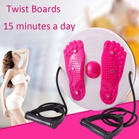 Wholesale waist twisting disc - Waist Trianer Twist Boards Body Twisting Disc Aerobic Exercise Figure Trimmer Magnet Balance Rotating Board with Pull Rope