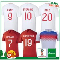 Wholesale red white blue shorts - 2018 England DELE ALLI world cup soccer jerseys 2019 KANE RASHFORD VARDY jersey LINGARD STERLING STURRIDGE football shirt