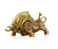 Wholesale handicraft fan - Pure bronze animal ox bronze ornament twelve Chinese Zodiac portrait handicraft