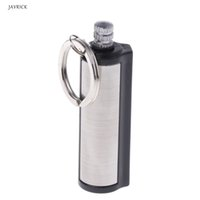 Wholesale JAVRICK Metal Key Chain Permanent Match Striker Chic Lighter Silver
