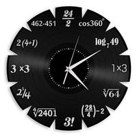 Wholesale arts elements - University Mathematical Elements Vinyl Creative Quartz Wall Classroom Home Decor Wall Art Clock (Size: 12 inches, Color: Black)
