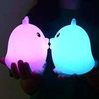 Pats Led for sale - FENGLAIYI New Creative Silicone Chicken Pat Lamp Can Charge USB RGB LED Night Light Led Lights For Home Kids Bedroom Decor