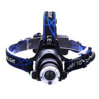 xml t6 führte fahrradlicht großhandel-LED Scheinwerfer CREE T6 LED Scheinwerfer Zoom 18650 Scheinwerfer Scheinwerfer 2000lm XML-T6 zoombare Lampe Frontale LED BIKE Licht