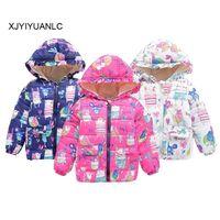 ingrosso abbigliamento invernale per bambini-Ragazzi delle ragazze Cappotti Abbigliamento in cotone moda Giacche per bambini Neonate Inverno Capispalla casual calda 1-5 anni Abbigliamento per bambini