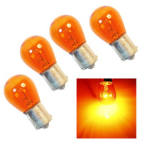 Wholesale amber for car for sale - Group buy 4pc set W amber bulb Car Styling Light Indicator Lamp Car Turn Siginal Light Fit for standard PY21W BA15s or bulb