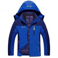 Wholesale worsted coat hoods - Winter Jacket Men Waterproof Thick Warm 2in1 Parkas Mens Windproof Detachable Hood Winter Coats Plus Size4XL Outwear Overcoat
