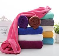 Wholesale aqua hair resale online - Microfiber Bath Towel Quick Dry Bath towels Super Soft Water Aborsbent Sports Aqua Gym Microfiber Towel