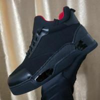 erkek boyutu 39 siyah ayakkabı toptan satış-2018 Adı Marka Rahat Ayakkabı Adam Kırmızı Alt Sneaker Düz Yeni Tasarımcı Dantel Up Yüksek Üst Karışık Renkler Siyah Beyaz Eğitmenler Boyutu 39-47