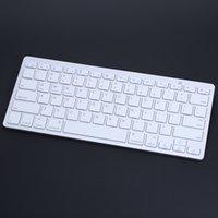Wholesale thinnest ipad keyboard - Newest Ultra-thin Wireless Keyboard 78 Keys Wireless Bluetooth 3.0 Keyboard For iMac iPad Android Phone Tablet PC Computer UK