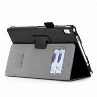 tablet lenovo gratis al por mayor-Funda de lujo para Lenovo Tab 4 8 Plus TB-8704F TB-8704N TB-8704 Tablet de 8 pulgadas con ranuras para tarjetas Correa de mano + regalo gratuito