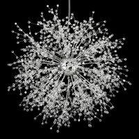accesorios de iluminación colgante de interior al por mayor-Lámparas de araña modernas de fuegos artificiales Iluminación Lámpara colgante de cristal Lámpara colgante de diente de león para dormitorio Cocina Comedor Accesorio de iluminación interior