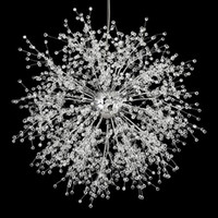 Wholesale dining room light fixtures online - Modern Dandelion Crystal Chandeliers Lighting Pendant Hanging Lamp for Bedroom Kitchen Dining Room Indoor Lighting Fixture