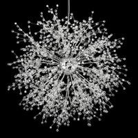 pingentes de vidro tom dixon venda por atacado-Modern Firework Lustres Iluminação Pingente de Cristal Luz Dandelion Lâmpada de suspensão para o Quarto Cozinha Sala de jantar Indoor aparelho de iluminação