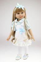 ingrosso bambole di silicone diy-Bambola American Girl da 18 pollici Giocattoli da bagno Le nostre bambole Generation Accessori Piccolo vestito floreale Bambole in silicone Coate Reborn