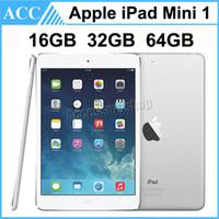64-гбайт планшетный пк wifi оптовых-Восстановленное в Исходном Apple iPad Mini 1 WIFI Версия 1-го поколения 16 ГБ 32 ГБ 64 ГБ 7,9 дюймов IOS Двухъядерный A5 Чипсет Планшетный ПК DHL 1 шт