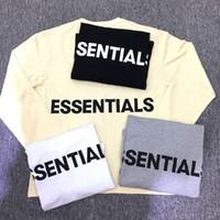 Wholesale men graphic shirt - 18SS New Summer Autumn Men Women Fear Of God T-Shirts Streetwear FOG Essentials Graphic Long Sleeve T shirt 4 color S-XL