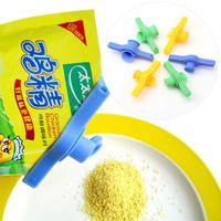 clipe de vedação venda por atacado-Snack Seal Clipe Preservação de Alimentos Clipe De Plástico Saco De Leite Em Pó Saco De Tomada Boca Clipe Food Bag Umidade À Prova De Vedante