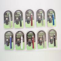 ingrosso fuoco e cig-Vape Pen Battery 350mAh Vapor Cartridges Batterie di preriscaldamento con caricabatterie USB per 510 Thread E-sigaretta con blister Retail Box