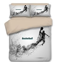 Wholesale animal comforters - New 3D Bedding Set 3pcs Sporting Basketball Goalkeeper Footballer Duvet Cover Oil Pattern Bed Spread Set Full Queen King Size Home Textiles