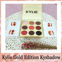 Wholesale kylie eyeshadow birthday edition for sale - Group buy HOT Kylie Limited Birthday Edition Cosmetics Bronze Eyeshadow palette colros KyShadow Palette Gold packing DHL free