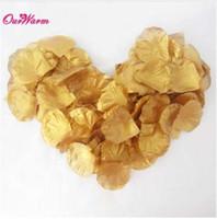 altın ipek yaprakları toptan satış-1000 adet / grup Yapay İpek Gül Yapraklı Düğün Dekorasyon Yapay Çiçek Yapraklı Düğün Parti Dekorasyon Gümüş Altın