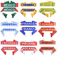 ingrosso bandiere nazionali per la coppa del mondo-Russia World Cup 2018 calcio Sciarpa Soccer Fan Sciarpa Squadra nazionale 32 squadre Messico Bandiera Banner Calcio Cheerleaders Sciarpa