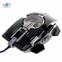verdrahtete lasermaus großhandel-[HFSECURITY] 8200DPI Gaming Maus 10 Tasten USB Wired Gamer Laser Mouse