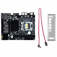 16gb sata toptan satış-Freeshipping Masaüstü Anakart Bilgisayar Anakart Için X58 LGA 1366 DDR3 Için 16 GB Destek ECC RAM Dört Çekirdekli Altı Çekirdekli Iğne 8PIN