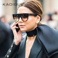 ingrosso occhiali da sole per bambini-Nuova vendita calda Occhiali da sole Donna Flat Top Oversize Shield Forma Occhiali Brand Design Vintage Occhiali da sole UV400 Rivetto femminile Tonalità K0100