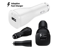 Wholesale Logo Au - Original Adaptive Fast Car Charger Adapter 9V-1.67A Rapid Charging Quick Car Charger with logo for Samsung Galaxy S8 S8 Plus S7 edge