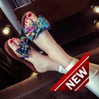 Wholesale Times Slippers - Woman women 39 s Sandals 2018 Summer With Flat Bottom Woman Slipper Leisure Time Women's Shoe Beach Shoes Women's Shoes