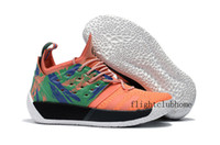 Wholesale Blue Zip Up - 2018 New James Harden Vol.2 Orange Green Basketball Shoes Mens harden vol 2 Athletic Sports Sneakers for sale Size 40-46