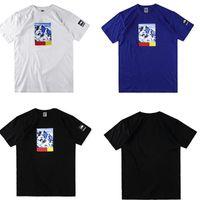 Wholesale Snow White Shirts - Box Logo t shirts Sup Mens 17 FW North Snow Mountain Print Tee tops T-shirts Brand Summer 2018 Short Sleeve Loose skateboard tshirt