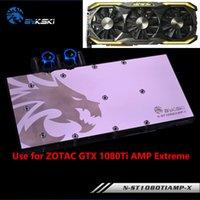 ingrosso grafica raffreddamento ad acqua-BYKSKI Full Cover Scheda grafica Water Cooling Block utilizzabile per ZOTAC GTX1080TI AMP Extreme Edition / ZT-P10810D-10 GPU Radiator Block