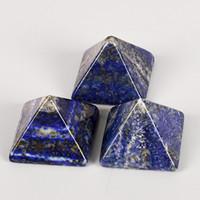 Wholesale Egyptian Lazuli Lapis - 1 pcs pyramid Fashion Energy Healing lapis Lazuli Egypt Egyptian Crystal Pyramid gemstone mineral Ornament Home Decor