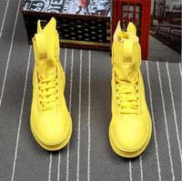 ingrosso cime estive di tela estiva-2018 NUOVO stile Primavera Estate Scarpe da tennis Uomo Sneakers Alta Top Scarpe nere Uomo Scarpe casual Moda maschile Sneakers S283