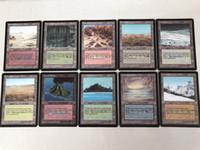 ingrosso carte blu di base-Buona qualità 40 pezzi DIY Blue Core TCG DIY Dual Land Beta gioco da tavolo Versione inglese Carte personalizzate Giochi da tavolo di carte magiche