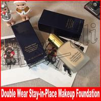 base de maquillaje color de la cara al por mayor-Famoso maquillaje facial Doble desgaste Base líquida Quédate en el lugar Maquillaje 30 ml Nude Cushion Stick Base de maquillaje radiante 2 colores para elegir