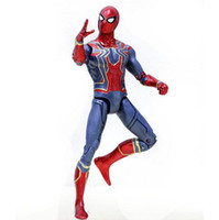 Wholesale spiderman models kids - Avengers Spiderman PVC Action Figures Infinity War Superhero Figures Spider-man Collectible Movable Model Dolls Toy OOA4968