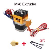 Wholesale mk8 extruder - Upgrade MK8 Extruder J-head Hotend Nozzle 0.4mm Feed Inlet Diameter 1.75 Filament Extra Nozzle +1 meter motor cable for free
