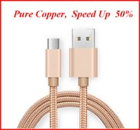 Wholesale types cell phones cables - Fast Charging cell phone cable Nylon Braided USB Cable for iPhone Sumsang Package Type C USB Charging Date Cable zpg054