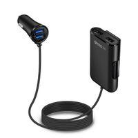 iphone araba kablosu toptan satış-4 USB Portları Hızlı Şarj Hızlı şarj QC 3.0 Araç Şarj Evrensel USB Hızlı Adaptörü Uzatma Kablosu Ile iphone Samsung Smartphone Için