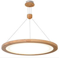 Wholesale modern hall table - Modern style restaurant chandelier solid wood Japanese style wooden chandelier led modern minimalist creative table lamp dining hall lampLFF